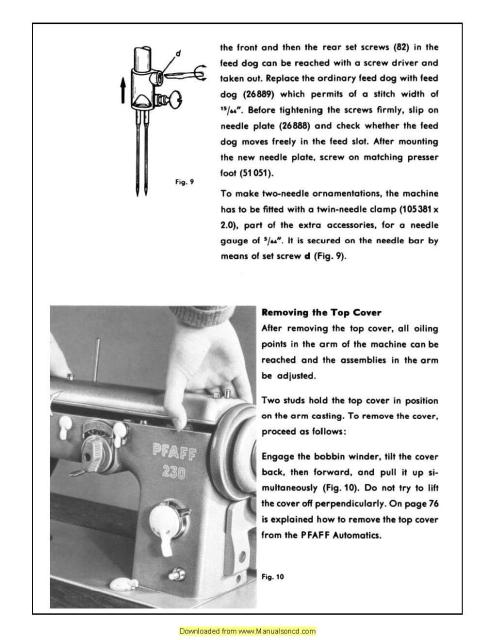 pfaff 230 sewing machine manual