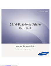 samsung clx 3305 user manual