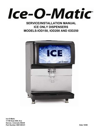 ice o matic ice0250 service manual