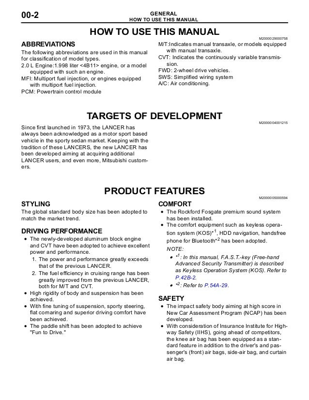 2010 mitsubishi lancer repair manual pdf