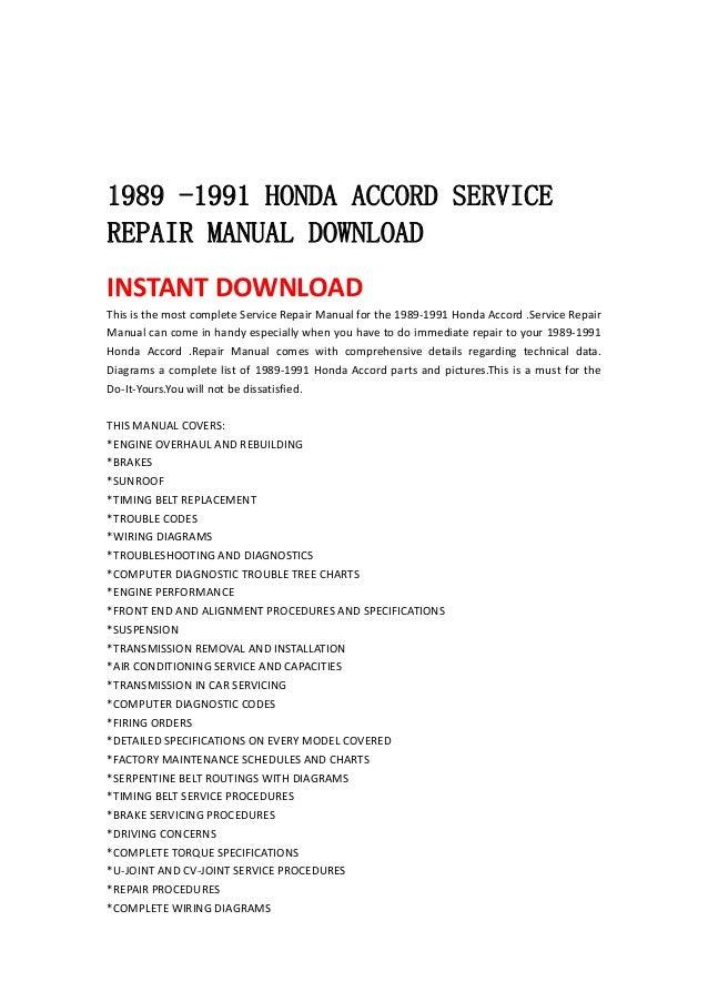 2013 honda accord service manual