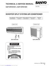 sanyo split system air conditioner manual