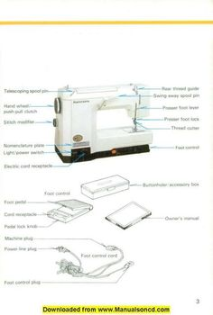 universal sewing machine manual free