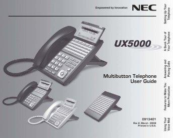 nec univerge sv8100 user manual