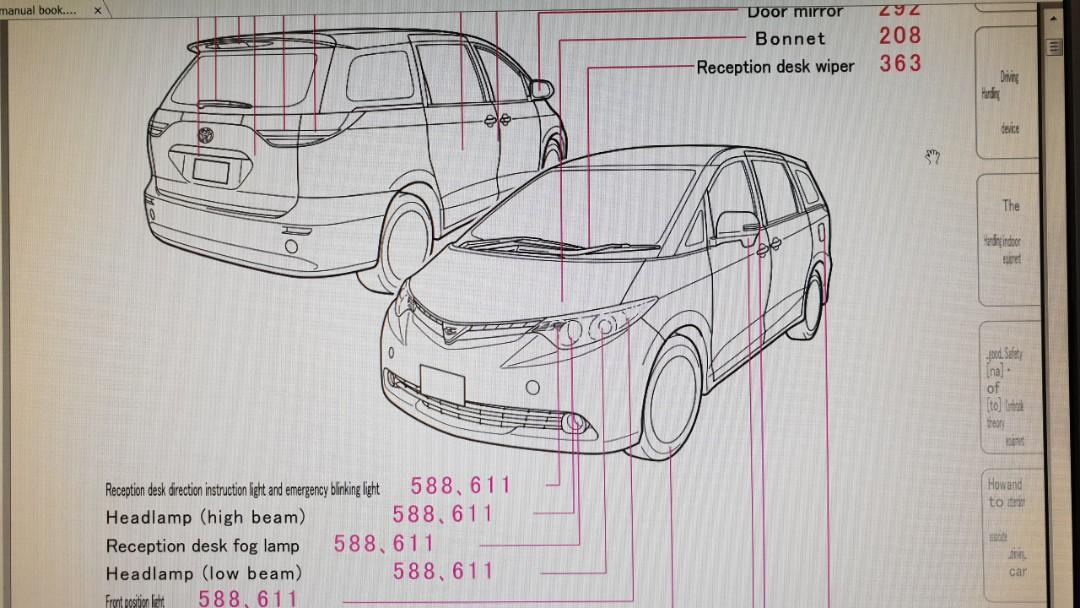 toyota estima acr50 owners manual