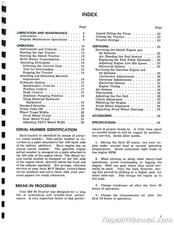 massey ferguson 50 manual pdf