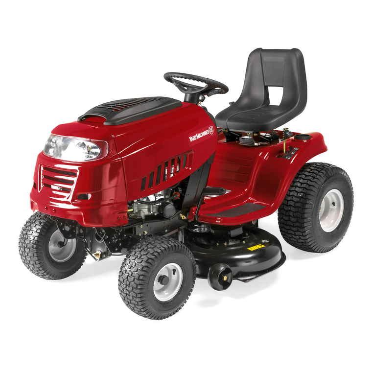yard machine riding mower manual