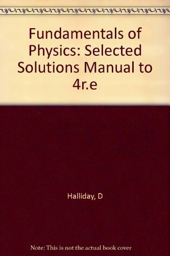 fundamentals of physics student solutions manual