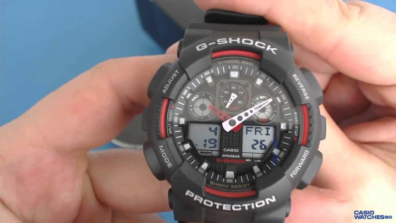 g shock ga 100c manual