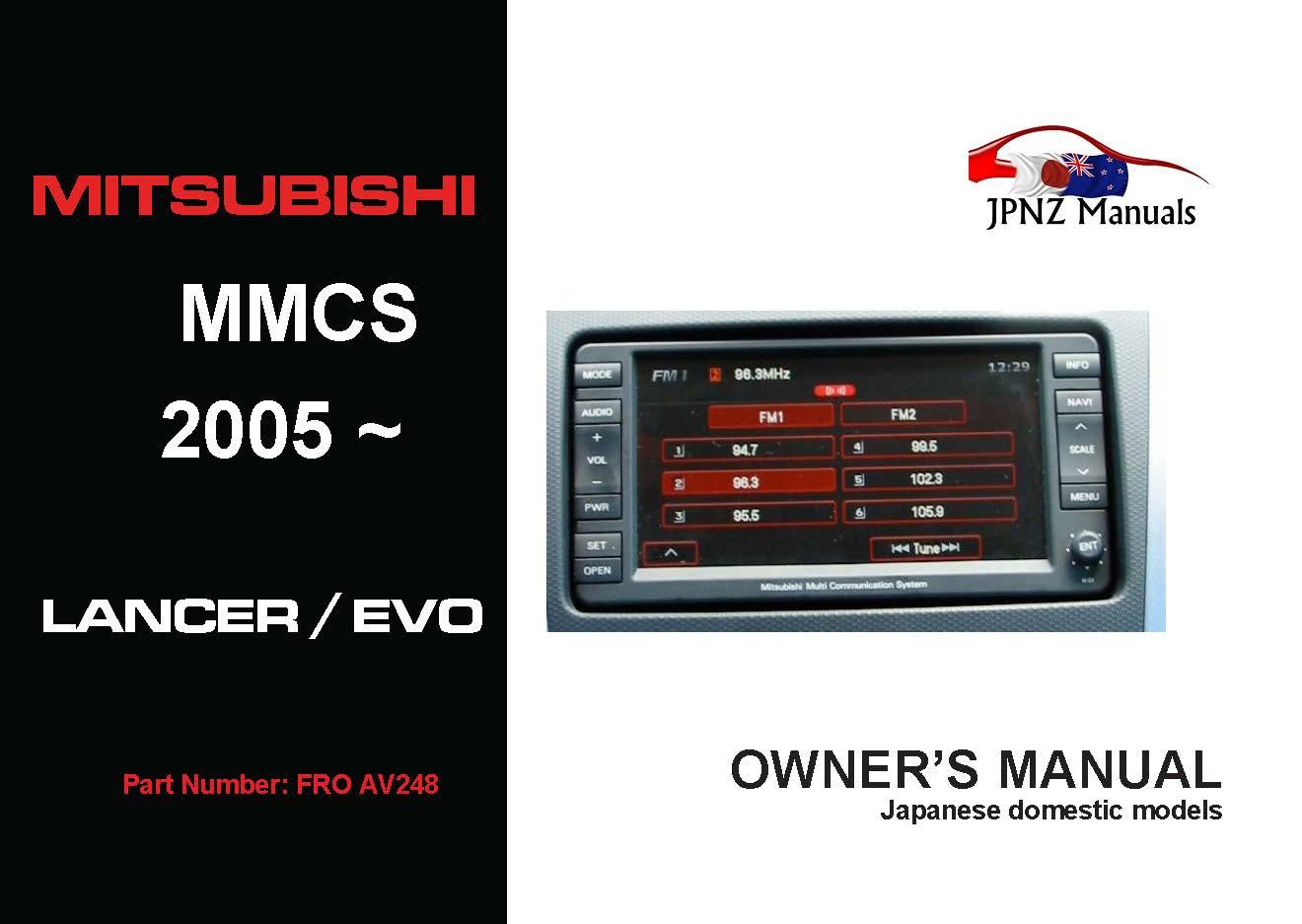 2012 mitsubishi lancer owners manual