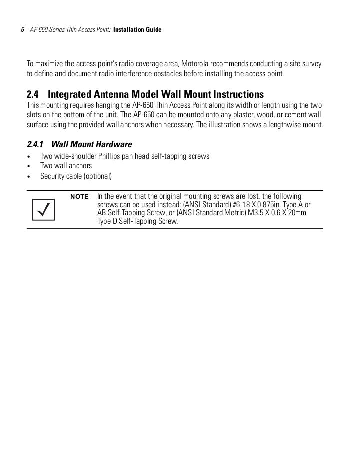 motorola ap 650 user manual