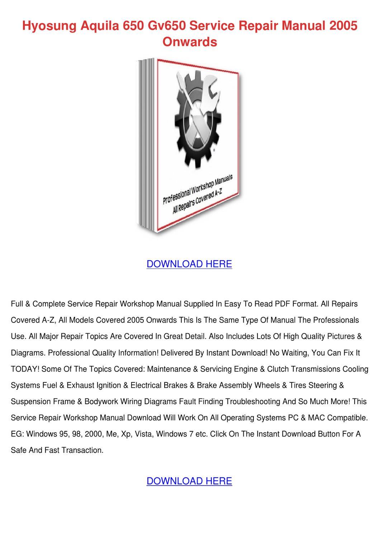 hyosung gv650 aquila service manual