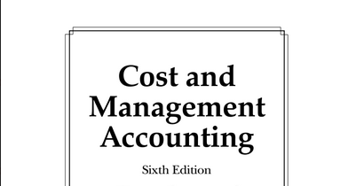 management and cost accounting student manual