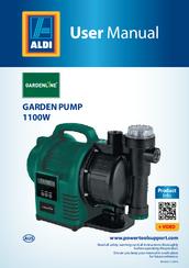 gardenline garden pump 1100w manual