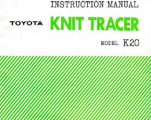 toyota sewing machine instruction manual