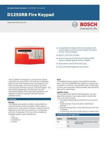 bosch solution 64 installer manual