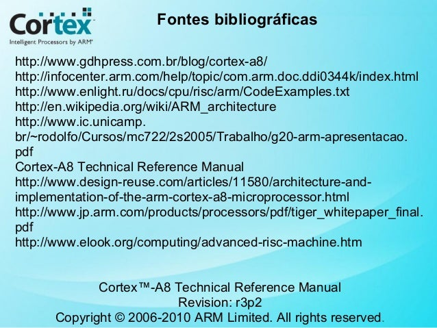 cortex a8 technical reference manual