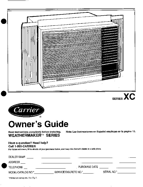 carrier air conditioner troubleshooting manual
