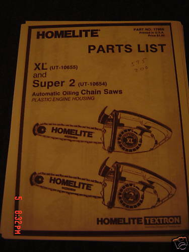 homelite super xl repair manual