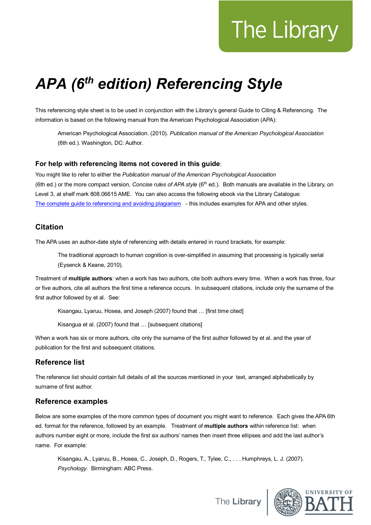 apa manual 6th edition ebook