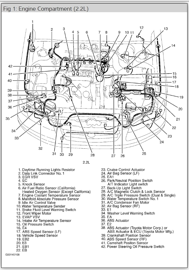 1999 toyota camry parts manual