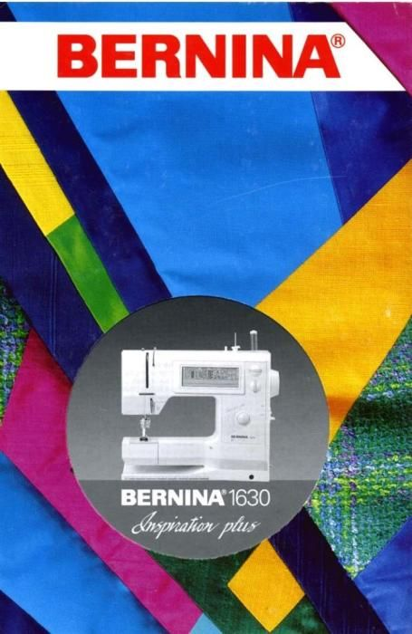 bernina 1630 inspiration plus user manual