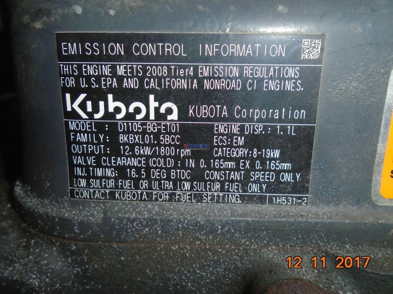 kubota d1105 bg et01 parts manual