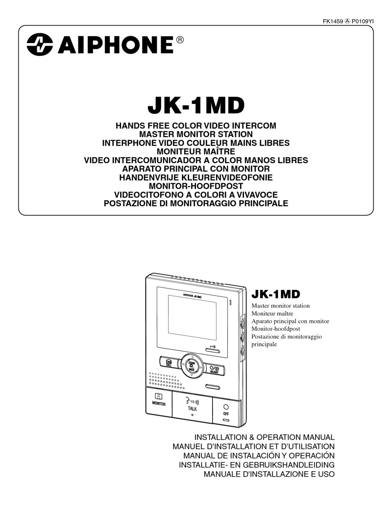 aiphone gt 1d user manual