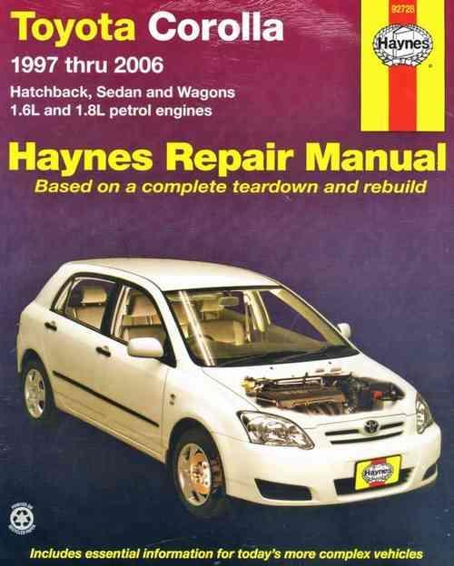 1998 toyota corolla owners manual