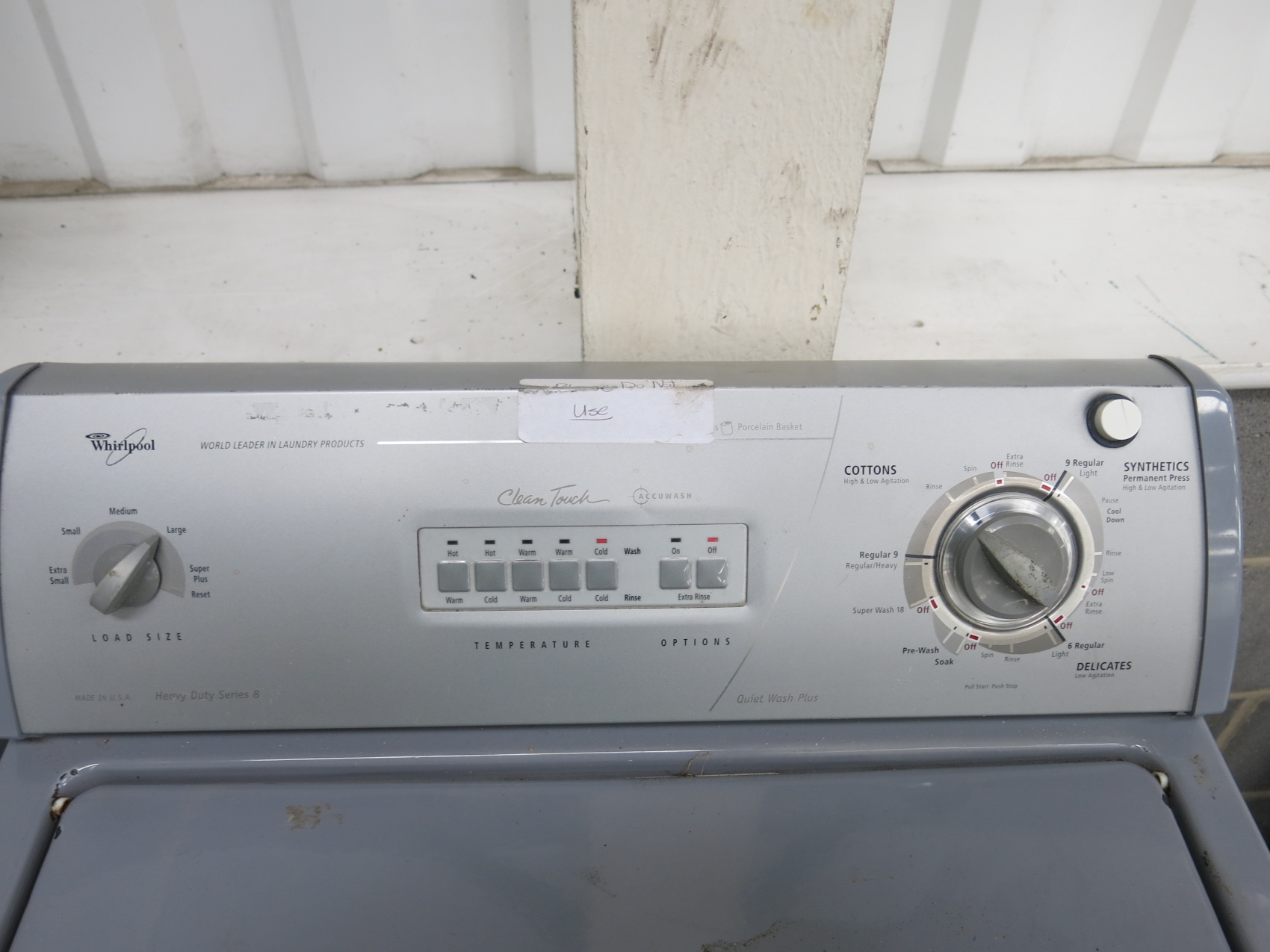 whirlpool heavy duty series 8 washing machine manual