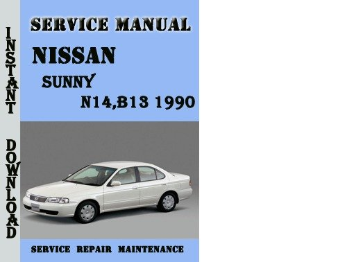 datsun sunny b310 workshop manual