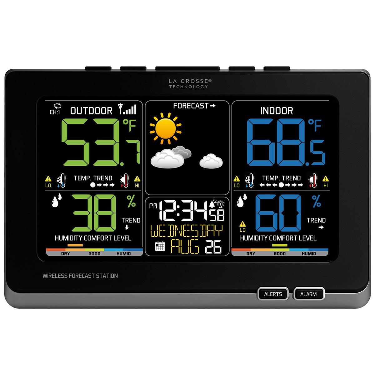 la crosse wireless color forecast station manual