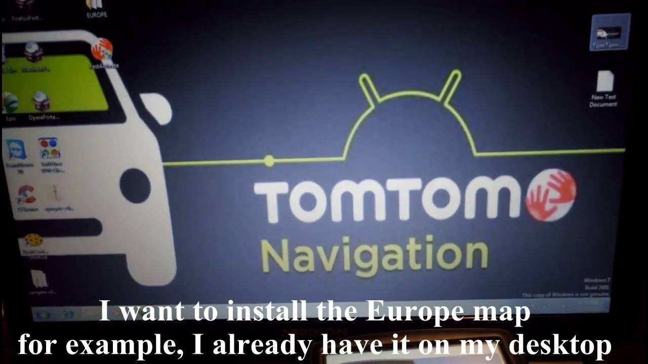 how to install tomtom maps manually