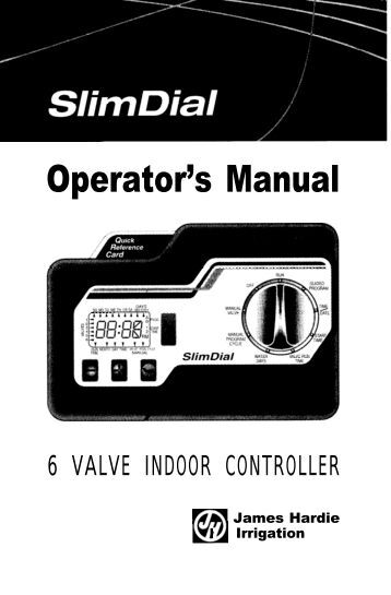 hardie slim dial sprinkler manual