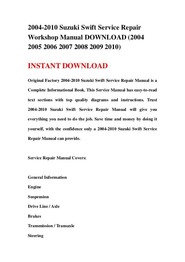 suzuki swift owners manual 2016