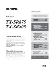 onkyo tx sr875 service manual