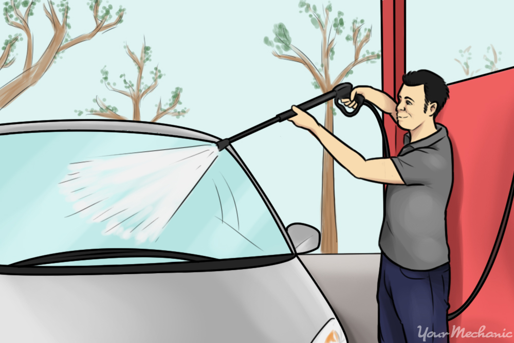 how to use a manual car wash