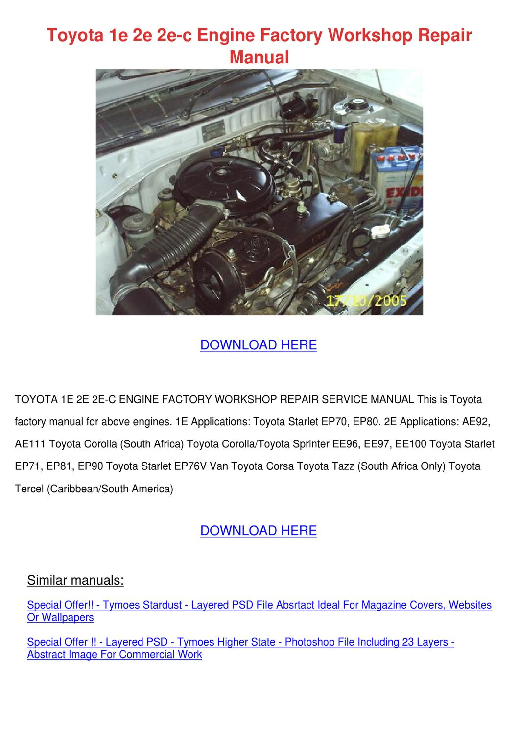 toyota corolla ae92 workshop manual download