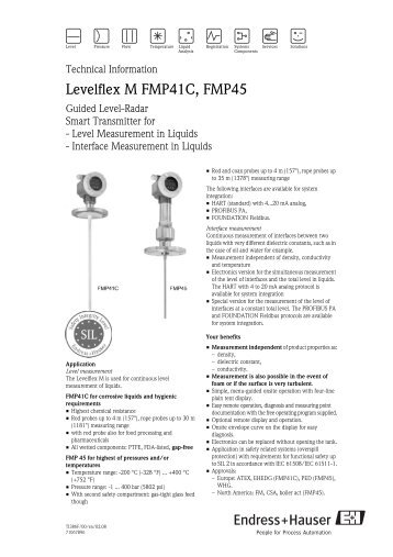 endress hauser guided wave radar level transmitter manual