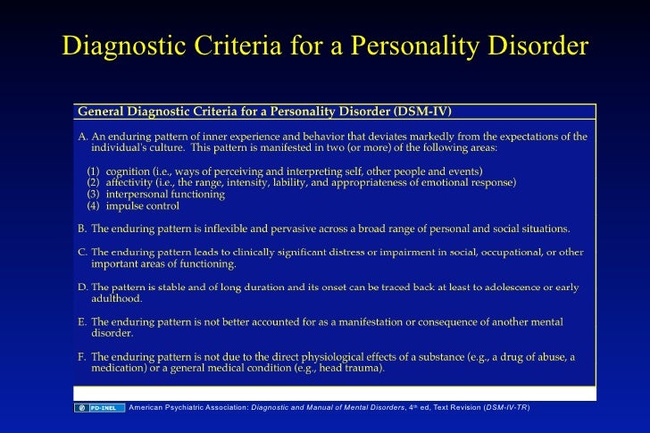 diagnostic and statistical manual of mental disorders 4th ed