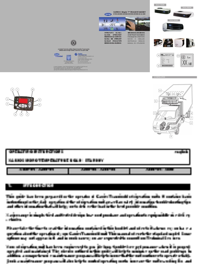 carrier xarios 350 service manual