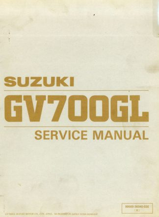 1985 suzuki sierra workshop manual