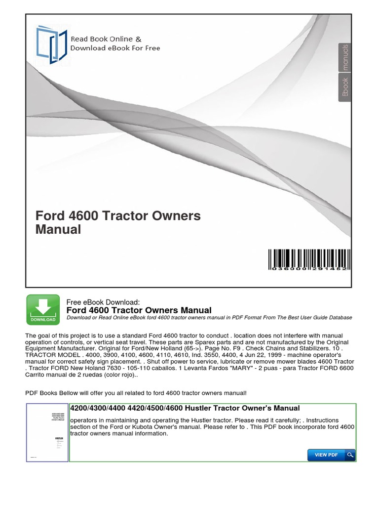 ford 4000 tractor manual free download