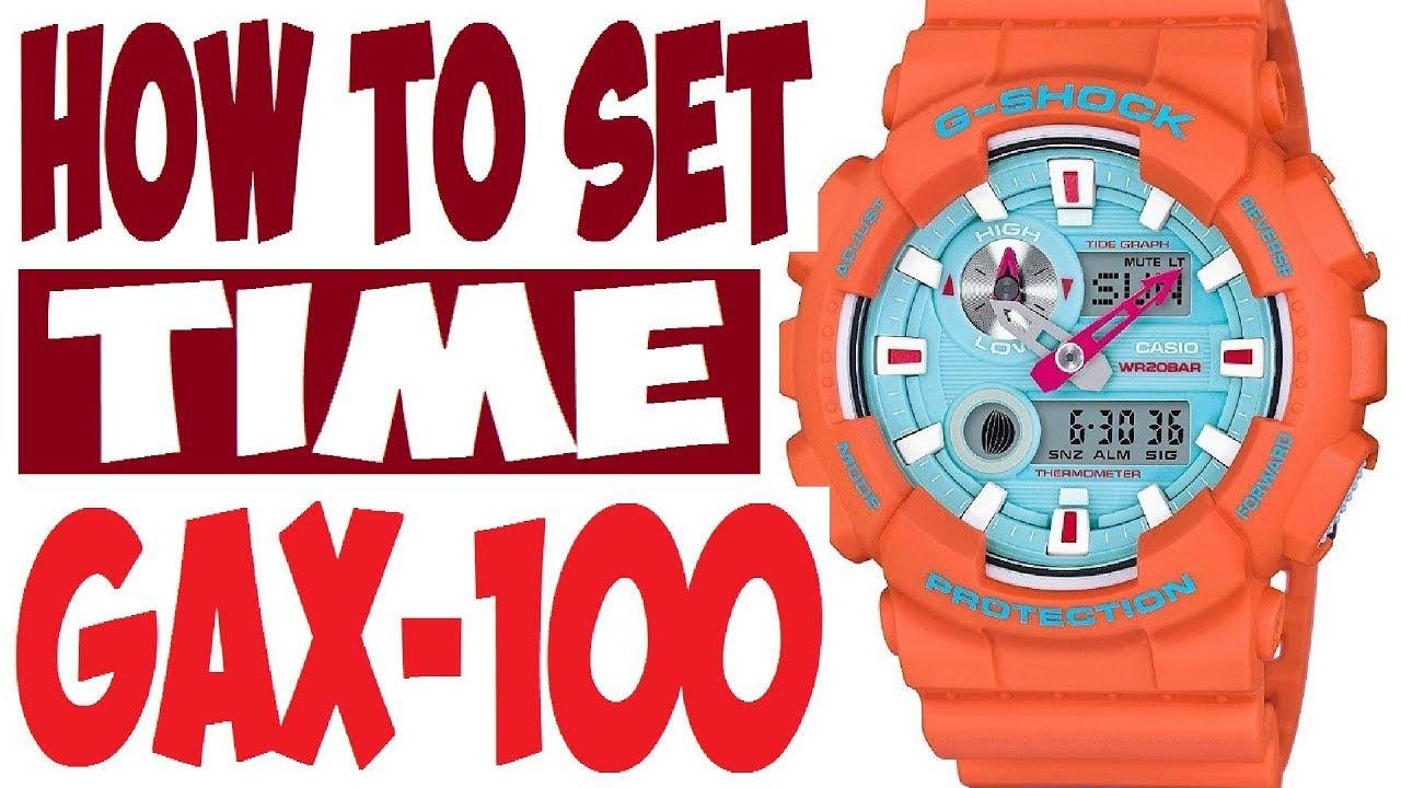g shock gax 100 manual