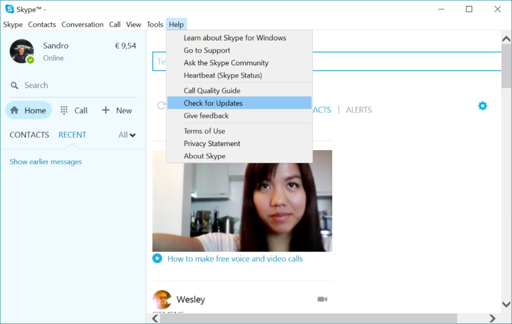 how to manually update skype