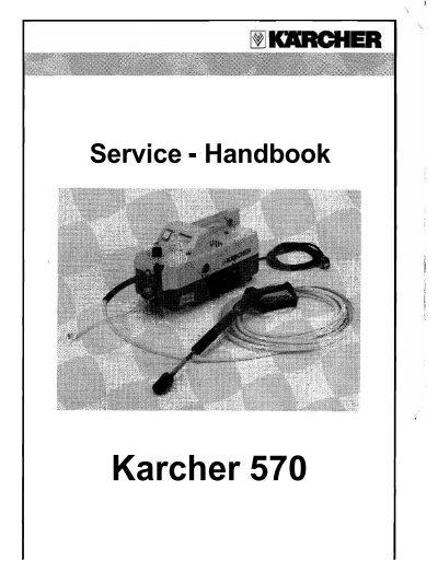 karcher 570 pressure washer manual