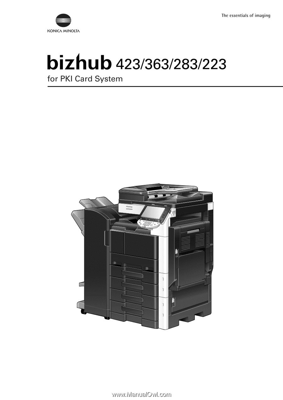 konica minolta bizhub 223 manual