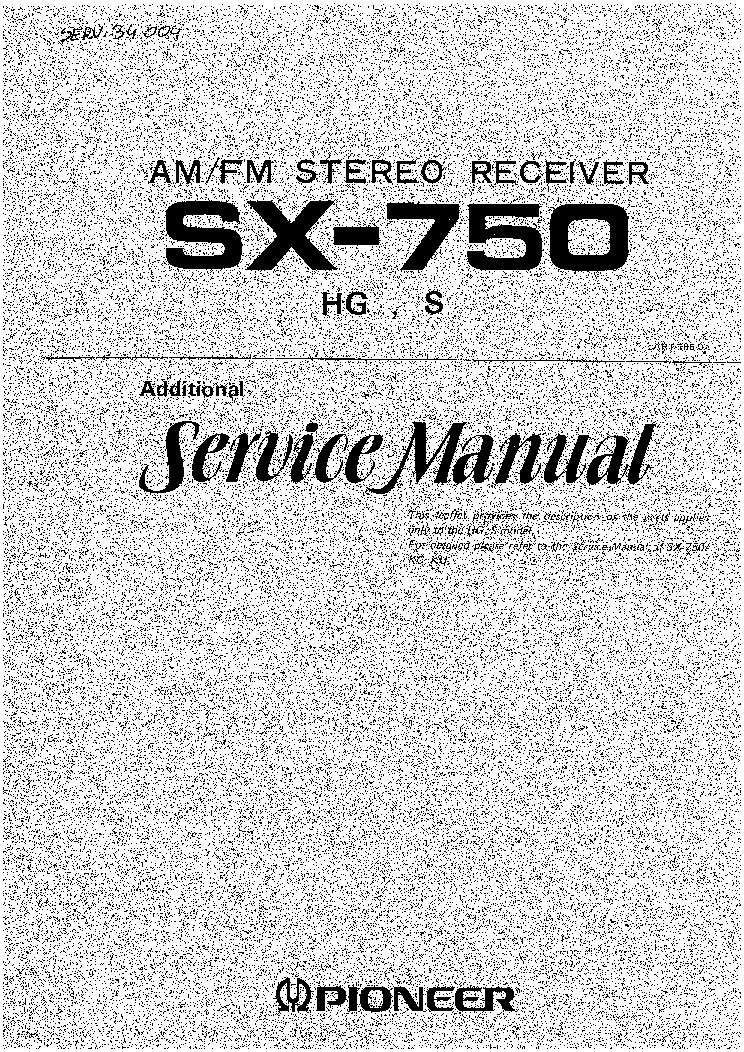 pioneer vsx 519v service manual