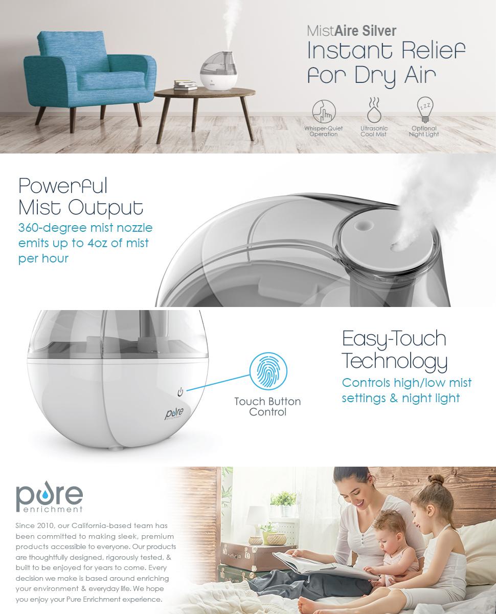 pure enrichment ultrasonic cool mist humidifier manual
