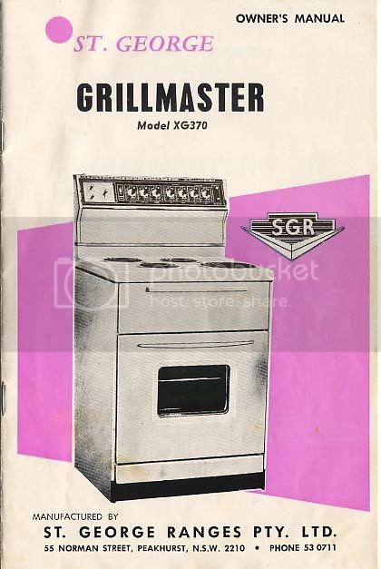 st george grillmaster oven manual